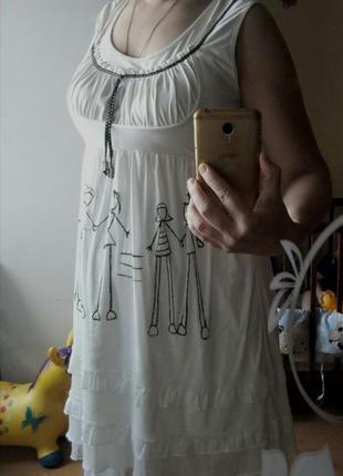 Белое платье с фатином