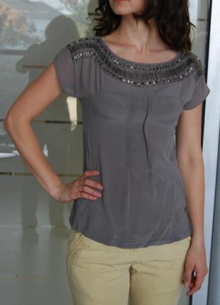 Элегантная серая блуза от warehouse
