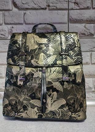 Кожаный стильный рюкзак