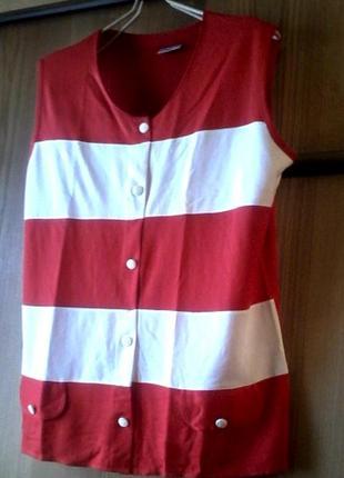 Маечка футболка кофточка из турецкого трикотажа на размер 48-50