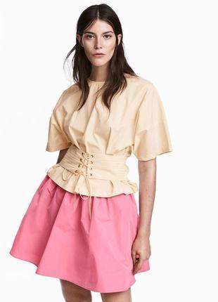 H&m розовая юбка пачка колокол