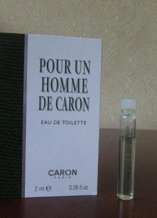 Туалетная вода pour un homme de caron caron 2 мл.