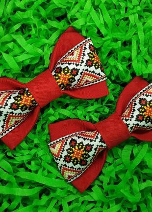 Галстук бабочка школьная с орнаментом