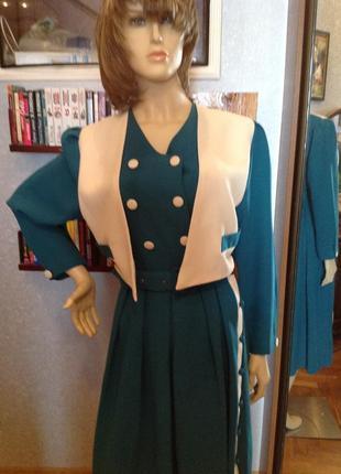 Платье с имитацией жилета, р. 52-54
