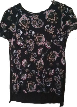 Футболка блуза джерси цветочный принт f&f