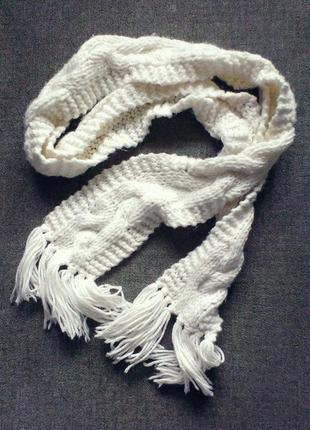 Тёплый длинный шарф