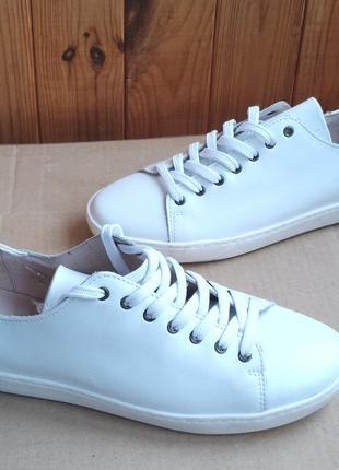 Стильные новые кроссовки полностью кожаные кеды мокасины tip toe (португалия)