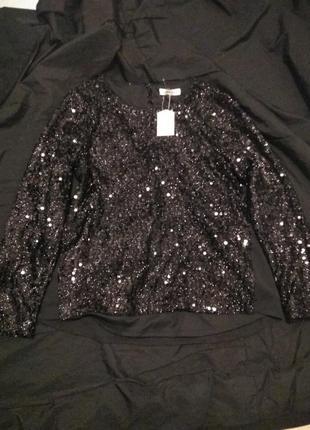 Кардиган нарядный кофточка пуловер  джемпер паетки