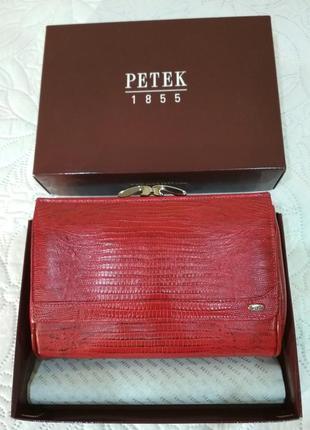 Косметичка кошелек из натуральной кожи petek