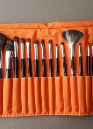 Набор кистей для макияжа shany pro brush set orange - 22pc