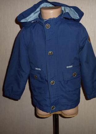 Куртка, ветровка rebel на 2-3 года на коттоновой подкладке
