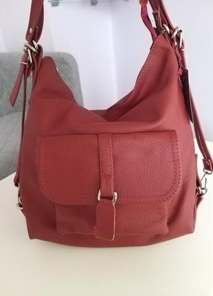 Женская кожаная сумка-рюкзак cavaldi s0080