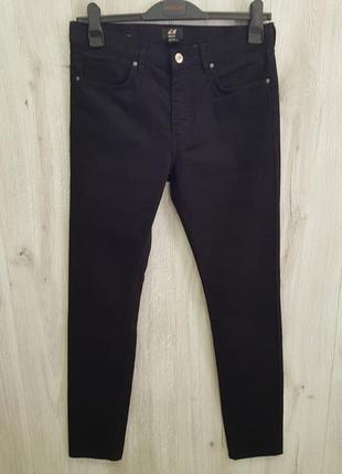 Черные мужские джинсы3 фото