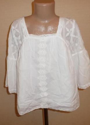 Next 03/2018 белая блузка некст на 9 лет рост 134 см