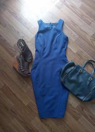 Силуетное платье миди next