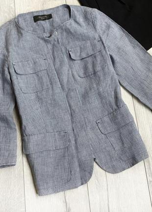 Лляний пиджак,джемпер max mara