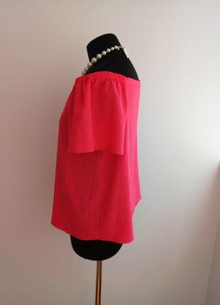 Яркая, актуальная блузка с приспущенными плечами от george.3 фото
