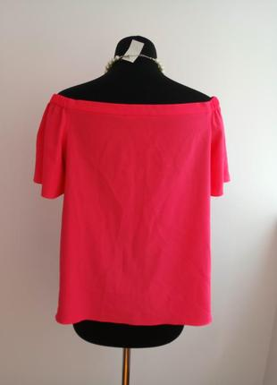 Яркая, актуальная блузка с приспущенными плечами от george.4 фото