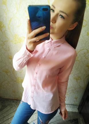 Шикарная рубашка в мелкую полоску