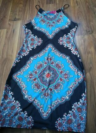 Коротке літнє плаття в принт