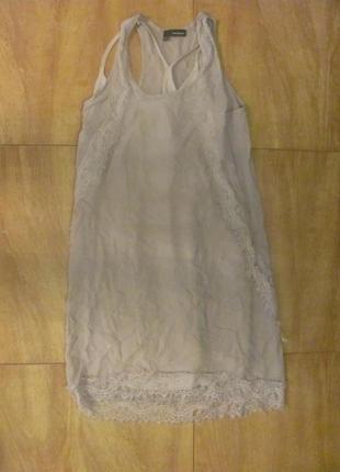 Шикарное платье лето кружево шелк
