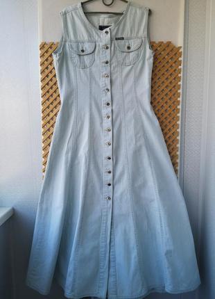 Джинсовое платье - халат