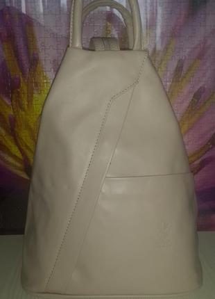 """Стильный кожаный рюкзак """" borse in pelle """" италия!"""