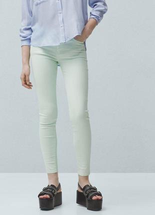 Салатовые джинсы от mango, 36р, испания, оригинал