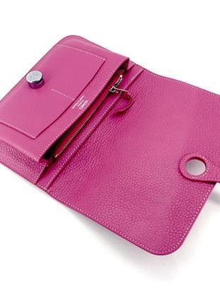 Розовый кошелёк hermes