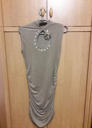 Замшевое платье с чокером+ болеро