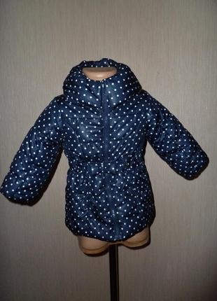 Легкая демисезонная куртка пальто h&m на 12-18 мес рост 86 см