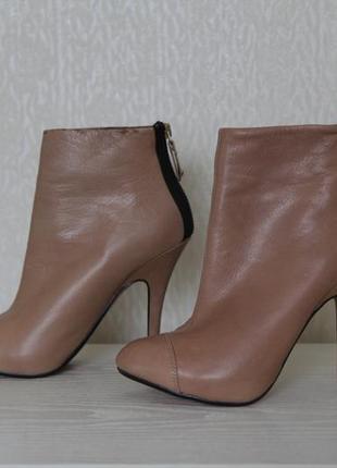 Кожаные ботильоны полусапоги ботинки zara p.37