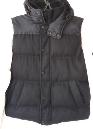 Комбинированная жилетка /стильная куртка- безрукавка zara man vietnam
