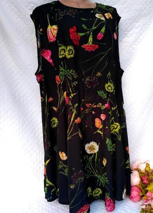 Красивое летнее платье в цветы для пышных форм  размер 26 (54-60)