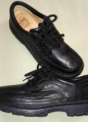 Туфли clarks, кожа, европейская зима