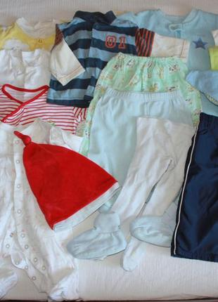 Пакет детских вещей мальчик 3-6 мес лот одежды весна- лето человечек