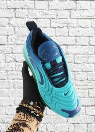 Сочные женские кроссовки nike air max 720 blue на весну. лето.