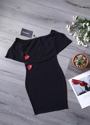 Платье на плечи / вечернее / красивое / приталенное / сукня / міні / вечірня
