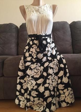 Bhs (британский дом) великолепная юбка лён+ вискоза р. 52-56