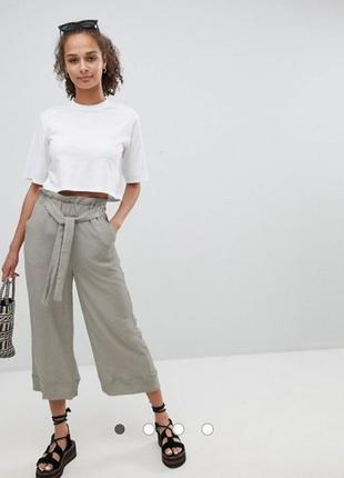 Классные жатые брюки кюлоты от new look