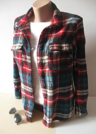 Теплая уютная рубашка в клетку - для прохладных дней - на невысокую девушку!