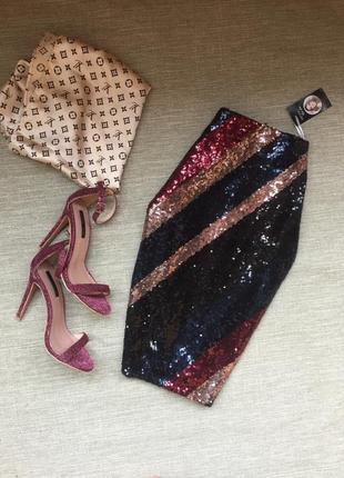 Шикарная юбка в пайетки от esmara