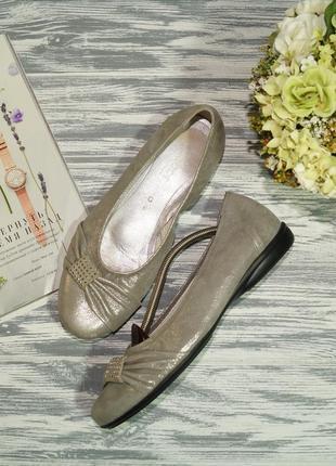 Gabor. кожа. красивые туфли на низком ходу премиум комфорта