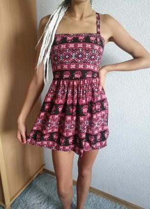 Новый сарафан платье короткое мини стильное модное хит сезона s