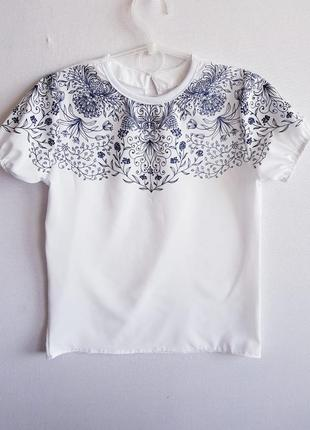 """🌼 комплект, школьная блузка и юбка """"ажур""""2 фото"""