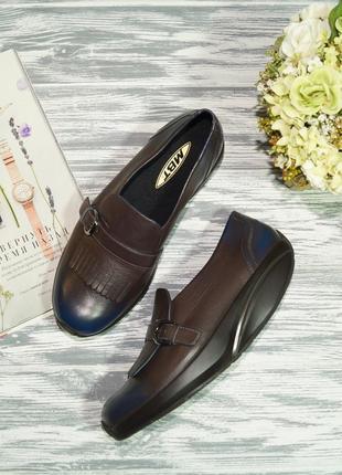 Mbt. оригинал. кожа. фирменные туфли, лоферы на платформе повышенного комфорта