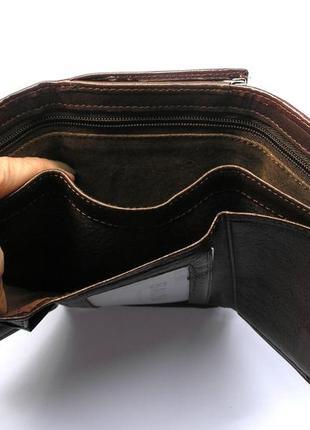 Кожаный кошелек портмоне шоколадная роза, 100% натуральная кожа, есть доставка бесплатн2 фото