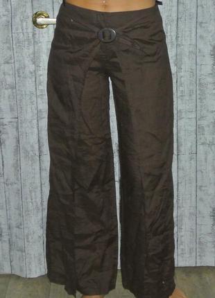 Шикарные льняные брюки - юбка xl 12р. 31-32р. per una
