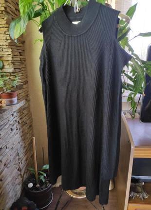 Платье туника в рубчик papaya