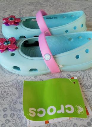 Балетки кроксы crocs c9